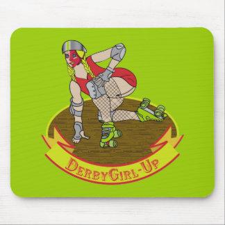 Chica de Derby encima del cojín de ratón Mousepad