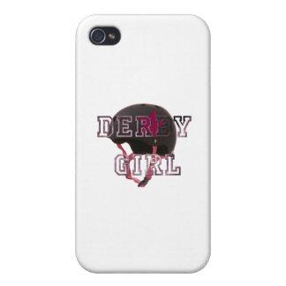 Chica de Derby iPhone 4 Carcasas