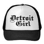 Chica de Detroit Gorras De Camionero