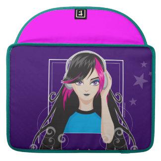Chica de DJ Funda Macbook Pro