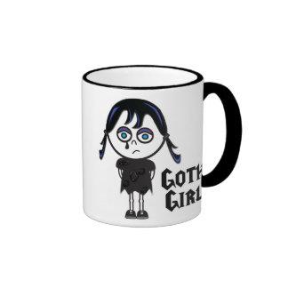 Chica de Emo del gótico, chica de Emo del gótico Taza De Dos Colores