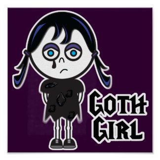 Chica de Emo del gótico Póster