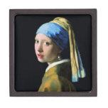 Chica de enero Vermeer con un arte del Barroco del Caja De Recuerdo De Calidad
