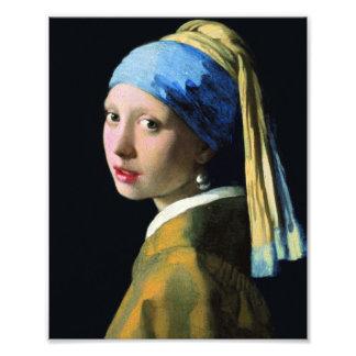 Chica de enero Vermeer con un arte del Barroco del Fotografía