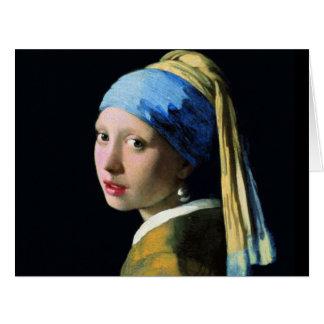 Chica de enero Vermeer con un arte del Barroco del Felicitaciones