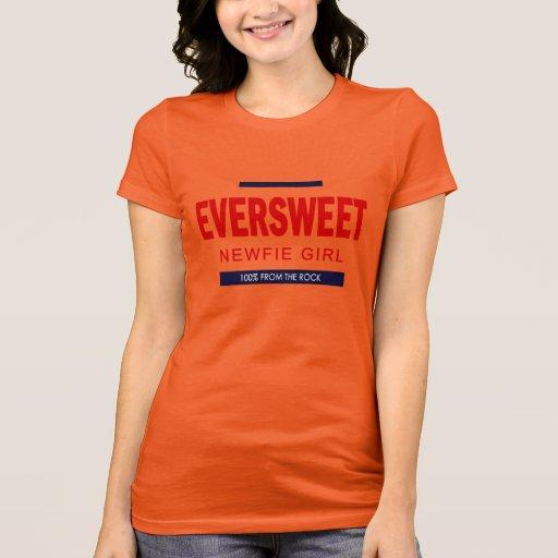 Chica de Eversweet Newfie Playera