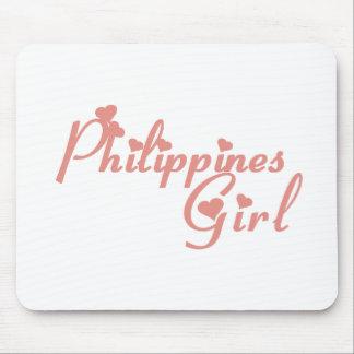Chica de Filipinas Mousepads
