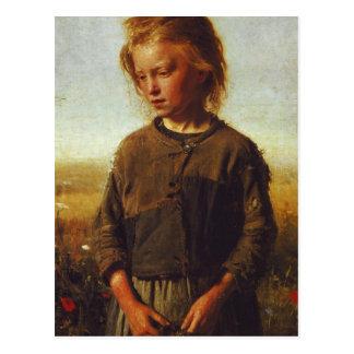 Chica de Fisher, 1874 Postales