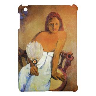 Chica de Gauguin con caso del iPad de la fan un mi iPad Mini Protectores