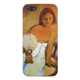 Chica de Gauguin con un caso del iPhone 5 de la fa iPhone 5 Carcasa