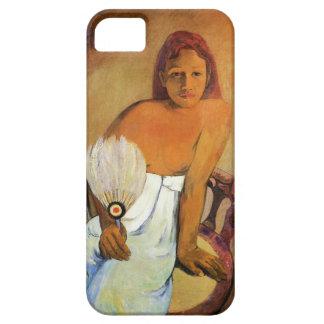Chica de Gauguin con un caso del iPhone 5 de la Funda Para iPhone SE/5/5s