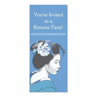 """Chica de geisha invitación 4"""" x 9.25"""""""