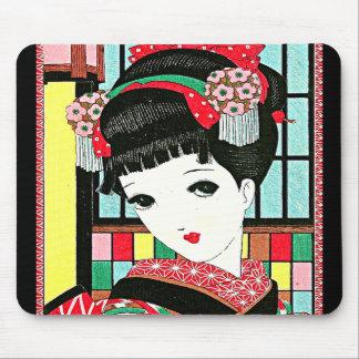 Chica de geisha japonés de Okura Alfombrillas De Ratón