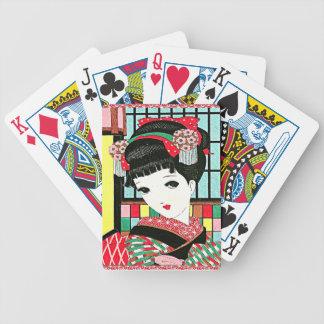 Chica de geisha japonés de Okura Baraja De Cartas