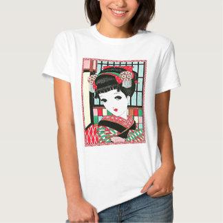 Chica de geisha japonés de Okura Camisas