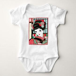 Chica de geisha japonés de Okura Mameluco De Bebé