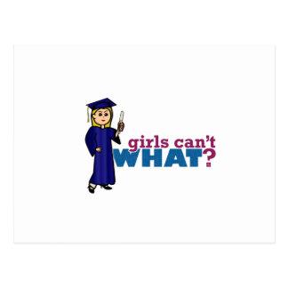 Chica de graduación postal