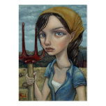 Chica de granja plantilla de tarjeta de visita