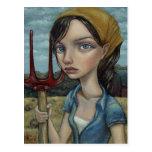 Chica de granja postales