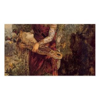 Chica de Gustavo Moreau-Thracian con la cabeza de  Tarjeta De Negocio