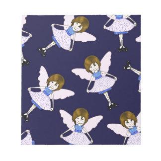 Chica de hadas con las alas, modelo al azar, arte libretas para notas