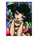 Chica de hadas del arte de la fantasía de la siren tarjetas postales