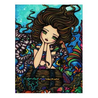 Chica de hadas del arte de la fantasía de la postales