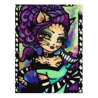 Chica de hadas del arte de la fantasía del humo de postales