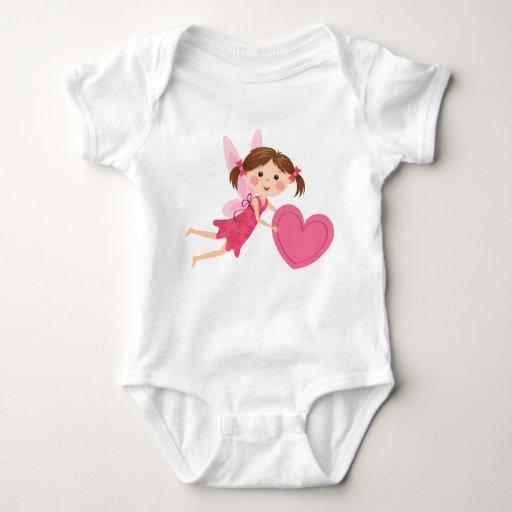 Chica de hadas del pequeño dibujo animado lindo t-shirts
