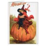 Chica de Halloween Felicitación