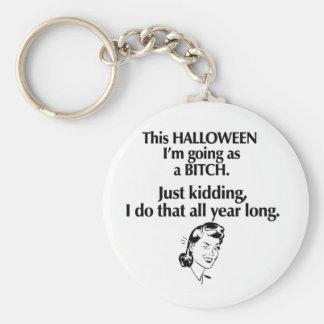 chica de Halloween Llaveros