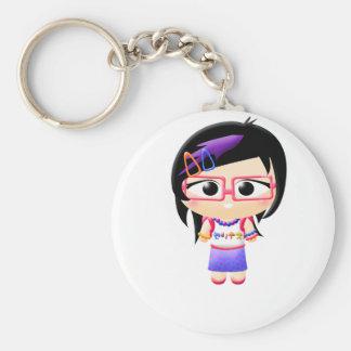 Chica de Harajuku Llavero Personalizado