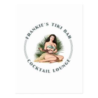 Chica de Hula de la barra de Tiki de Frankie Tarjetas Postales