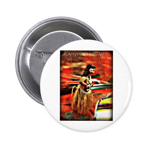 Chica de Hula de la hawaiana Pin Redondo 5 Cm