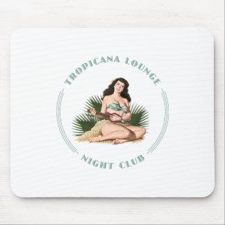 Chica de Hula del salón de Tropicana del club de n Alfombrillas De Raton