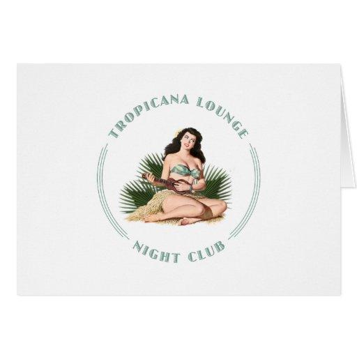 Chica de Hula del salón de Tropicana del club de n Tarjeta De Felicitación