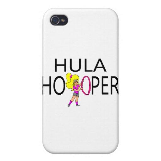 Chica de Hula Hooper iPhone 4 Cobertura