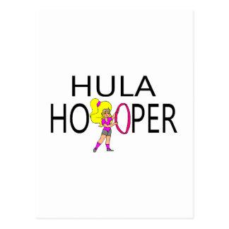 Chica de Hula Hooper Postales