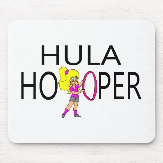 Chica de Hula Hooper Tapete De Raton