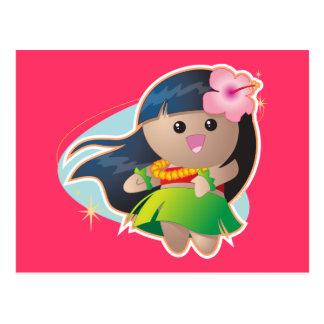 Chica de Hula Postal