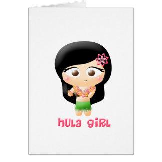 Chica de Hula Felicitación