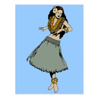 Chica de Hula Tarjetas Postales