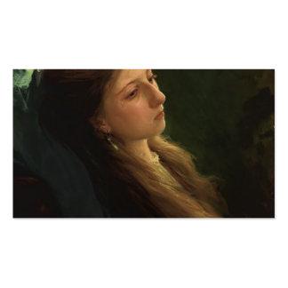 Chica de Ivan Kramskoy- A con su guadaña Plantillas De Tarjetas De Visita