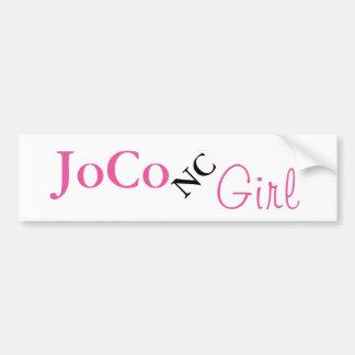 Chica de JoCo NC en blanco Pegatina Para Auto