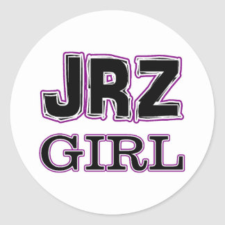 Chica de JRZ Pegatina Redonda