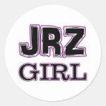 Chica de JRZ Pegatinas Redondas