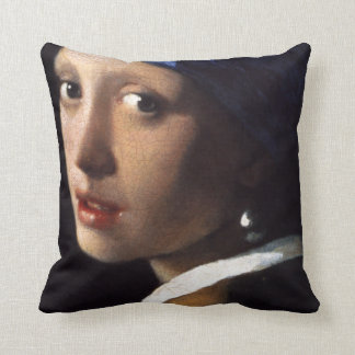 Chica de Juan Vermeer con un pendiente de la perla Cojin