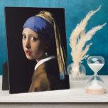 Chica de Juan Vermeer con un pendiente de la perla Placas Con Fotos