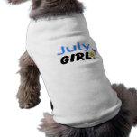 Chica de julio camisa de perrito