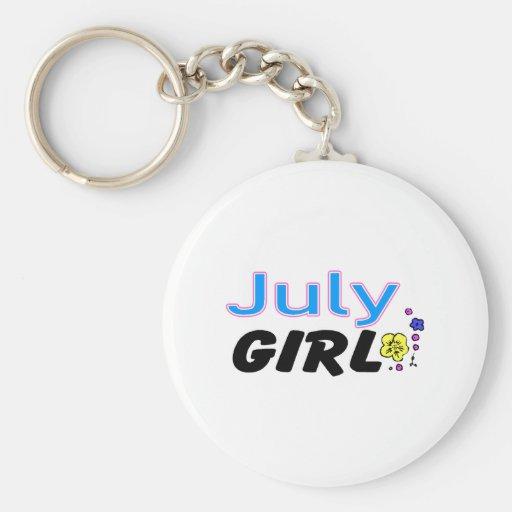 Chica de julio llaveros personalizados